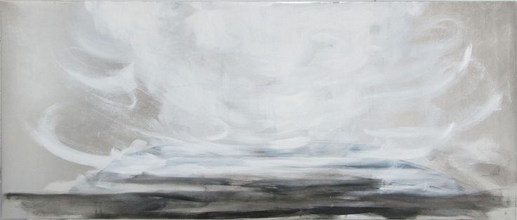 Breathe, 70x150cm, oil and metal leaf on canvas, Riikka Soininen 2014