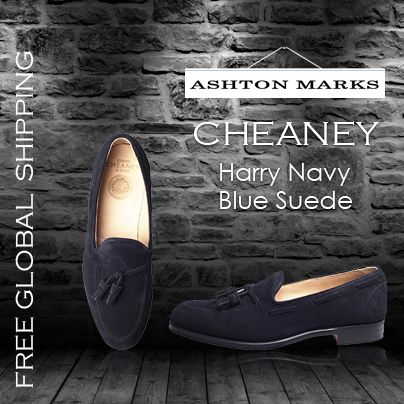 Buy Latest Collection of Harry Navy Blue Suede ,#cheaneyshoes with Ashton Marks. Click Here:http://goo.gl/LVfTLf