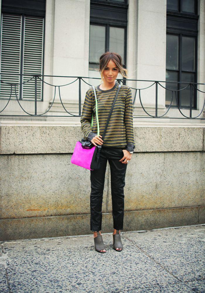 olive stripe. #nyc #streetstyle