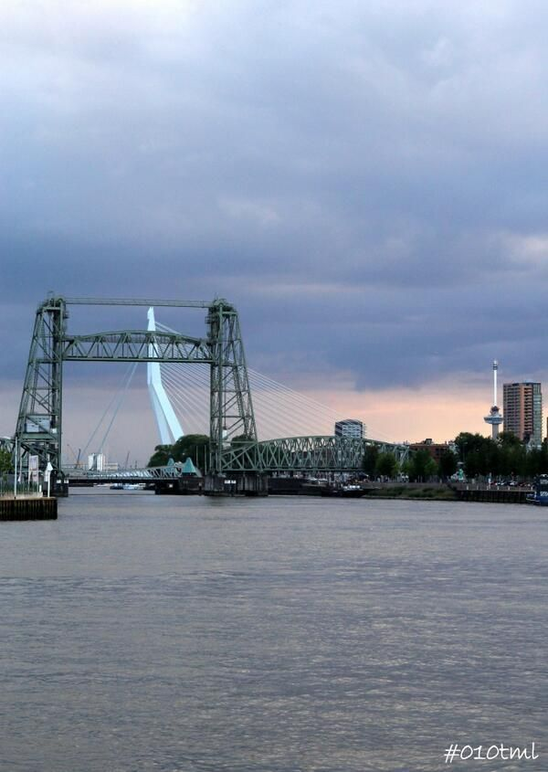 The Lift Bridge and The Swan Bridge, Rotterdam. #greetingsfromnl