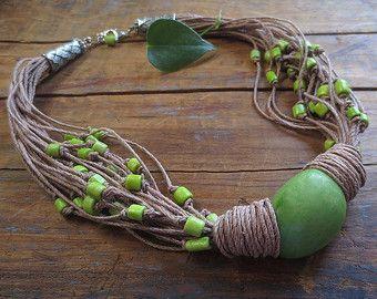 Estado Tagua tuerca collar collar de Anthropologie por ReTeTeer