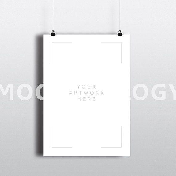 All Free Mockups Free 5x7 Vertical Hanging Paper Mockup Frame Paper Clips Poster Psd Mockup Free Psd Free Packaging Mockup Psd Mockup Template