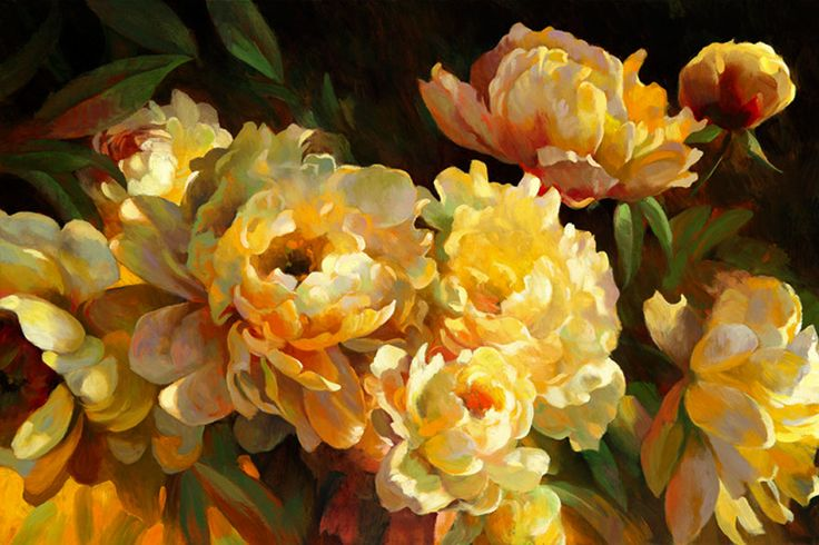 Leon Roulette ~ Peones for Springtime, 24x36 in, oil on canvas…