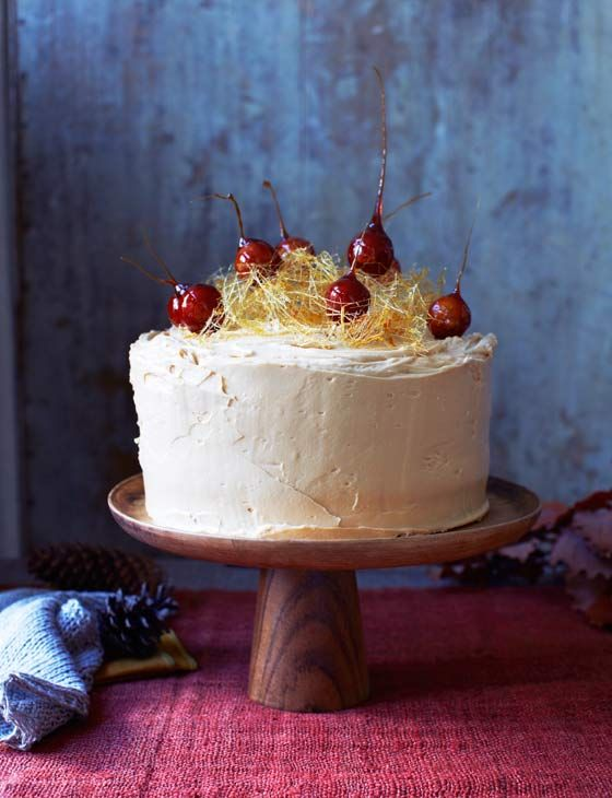 Toffee apple, date and walnut cake - an impressive autumn bake