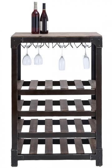 Madeline Wine Rack - Free-standing Wine Rack - Metal Wine Racks - Industrial-style Furniture   HomeDecorators.com