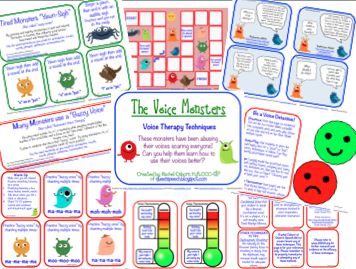 The Queens Speech: The Voice Monsters {Voice Therapy Techniques}, #SLP