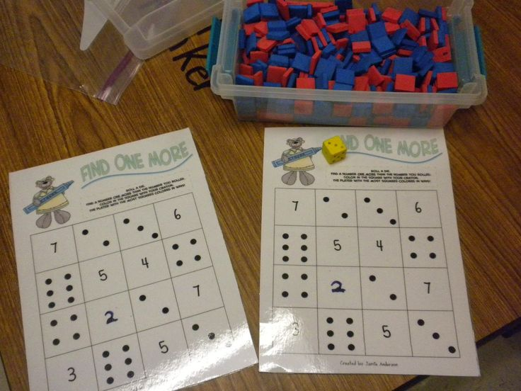 Math Tubs in Kindergarten