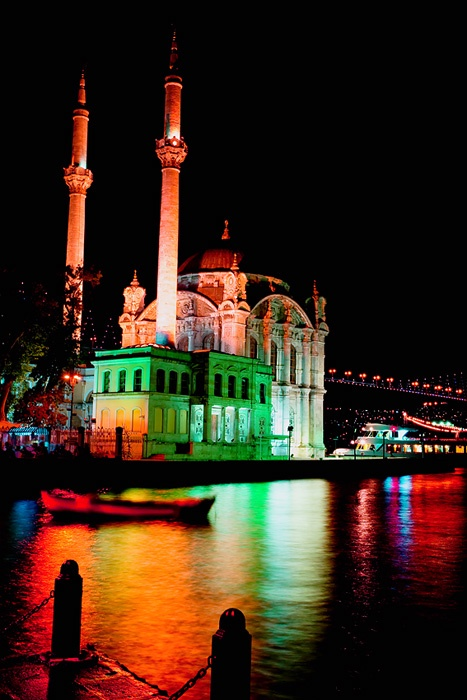 ✿ Colors of Ortakoy Mosque Turkey