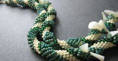Beaded ropes and spiral patterns go together like turquoise and coral, but we always seem to stick with the most obvious stitches. Tubular p...