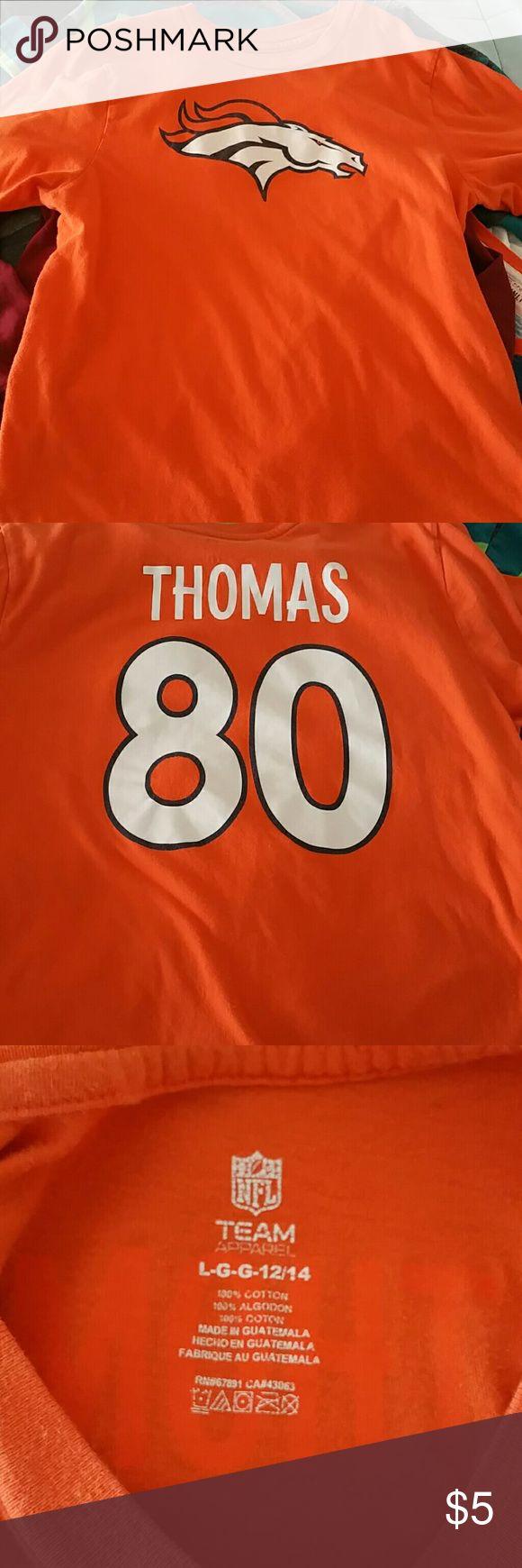 Broncos #80 t shirt Orange,  Julius Thomas. #80 t shirt NFL team apparel Shirts & Tops Tees - Short Sleeve
