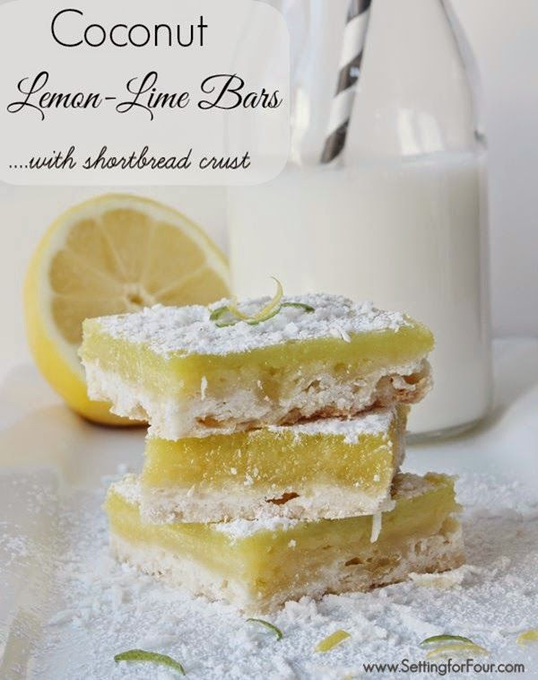 Make these delicious Coconut Lemon Lime Bars with a burst of tart lemon-lime paired with sweetened coconut! #giveacluck #CleverGirls #sp