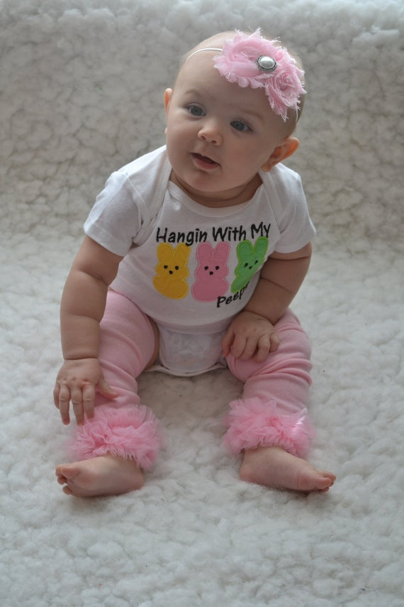 Easter baby outfit3 piece.......I love me some peeps......especially this little one ~ too cute!