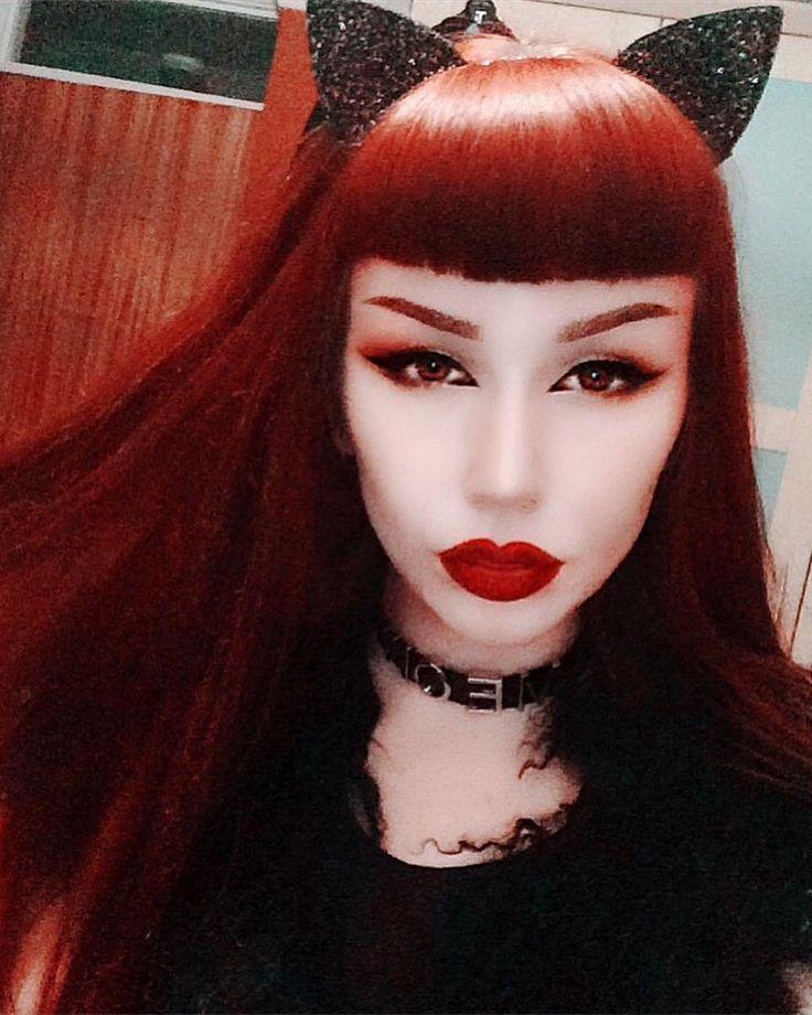 501 best vi rotes haar gotische images on pinterest goth beauty