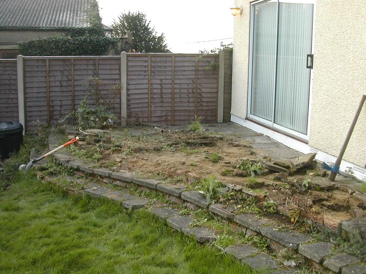 Before the decking
