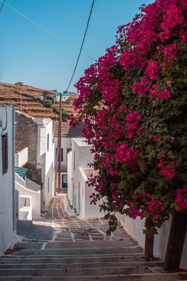 PINK - BLUE - LANDSCAPE - KYTHNOS ISLAND - GREECE