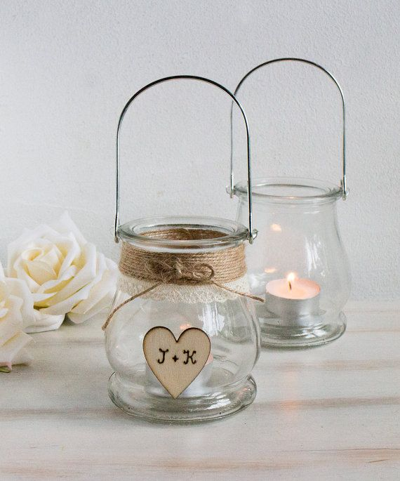 Wedding mason jar rustic decor centerpiece jars