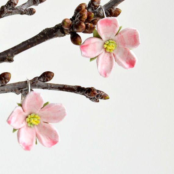 Boucles d'oreille - fleurettes mignonnes de printemps: N°1