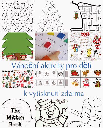 Vánoční pracovní listy pro malé děti k vytisknutí zdarma | thebulletpointkids