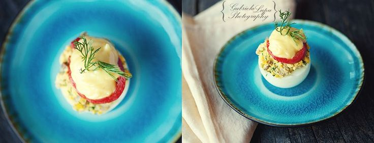Deviled eggs with leftover Easter eggs – Cooking without Limits - photography