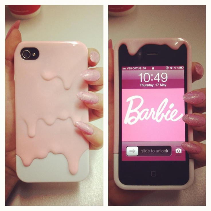 <3: Iphone Cases, Iphone 4S, Pink Nails, Phones Covers, Phones Cases, Ice Cream, Phone Covers, Barbie, Accessories
