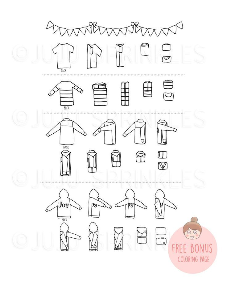 Joyful Folding Digital Set Bonus Coloring Page Konmari
