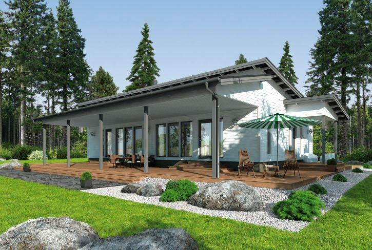 Tyyliä ja nautiskelua – Veeti: 128 m², 4 makuuhuonetta, 1-kerroksinen omakotitalo