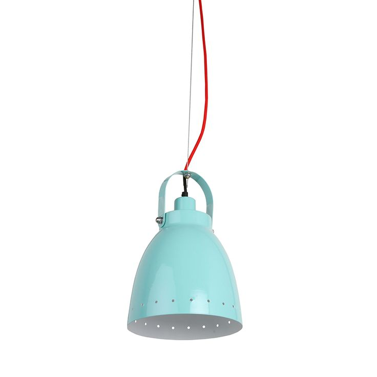 Cabo Pendant | The design originates out of our beautiful city and reflects our marine heritage with a drilled body design, colour fabric cord and tension clasp at the top which adds in height and rigidity. Buy now: http://lighting.co.za/ceiling/cabo-pendant/