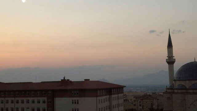 Karaman, zonsondergang