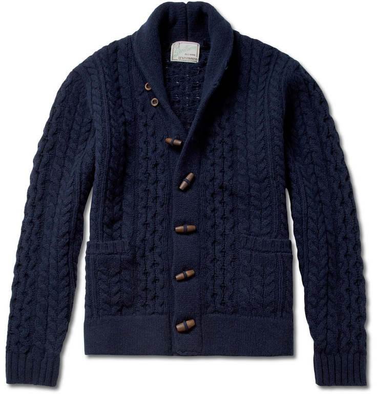 levi 39 s vintage clothing shawl collar wool cardigan mr porter clothing footwear pinterest. Black Bedroom Furniture Sets. Home Design Ideas