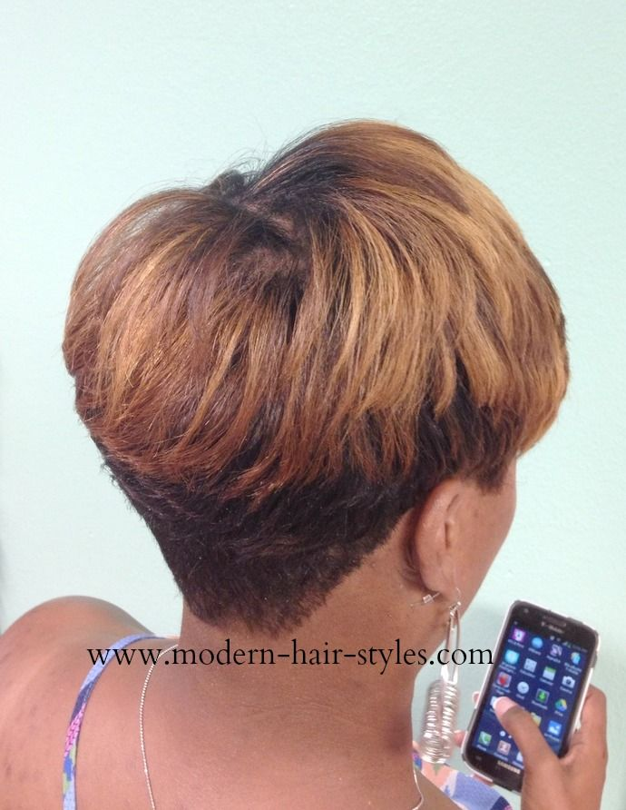Short Pixie With Deep Layers Styling Options Quick Weave Custom