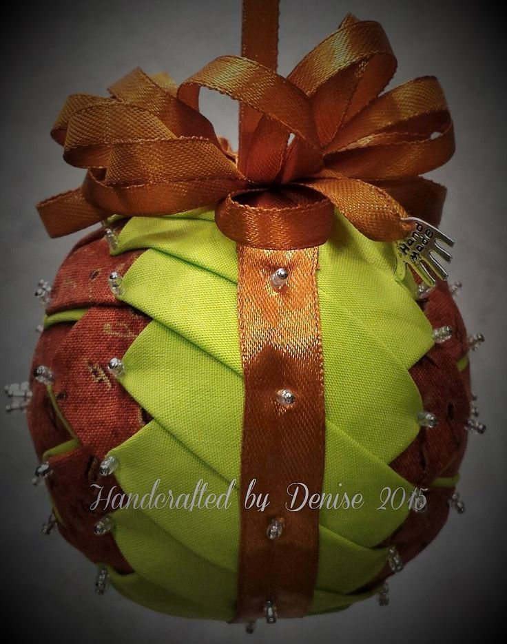 Fabric ornaments made by HANDCRAFTED BY DENISE
