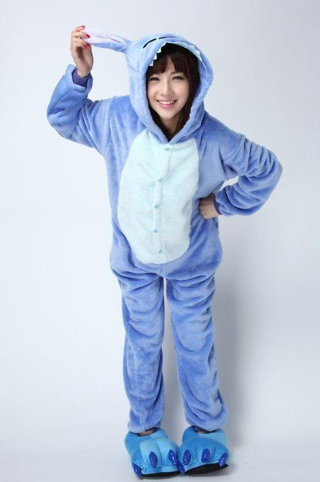 ferrand kigurumi avec chaussons pyjama onesie ou costume cosplay adulte unisexe stitch. Black Bedroom Furniture Sets. Home Design Ideas