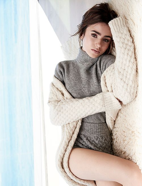 Lily Collins new pictures photographed by Mark Squires for Malibu Magazine December 2016.