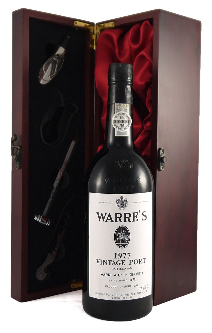 1977 Warre's #Vintage #Port  Presents a  fragrant tea-like bouquet and rich and spicy flavours and a forthcoming firm finish.