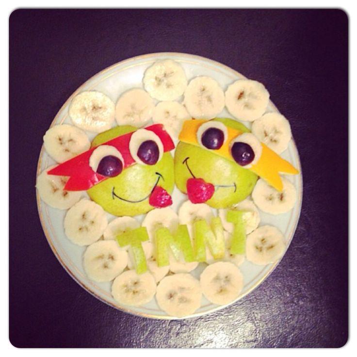 Teenage mutant ninja turtles fruit platter