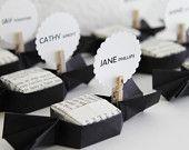 50 carte Luogo di nozze Dolci. favori da sposa. scatola di caramella di figura origami. bomboniere-classico, Su ordinazione