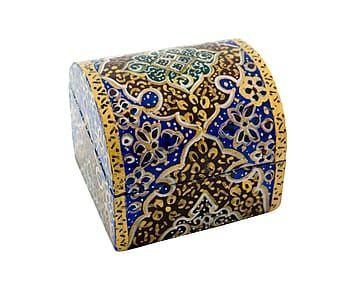 Caja persa en miniatura de hueso de camello pintada a mano Limei
