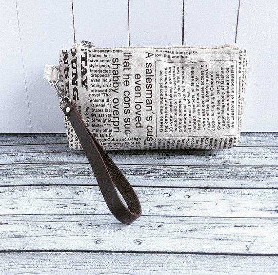 wrist pouch medium size for 2 phones lip balm by KatunKatunBags