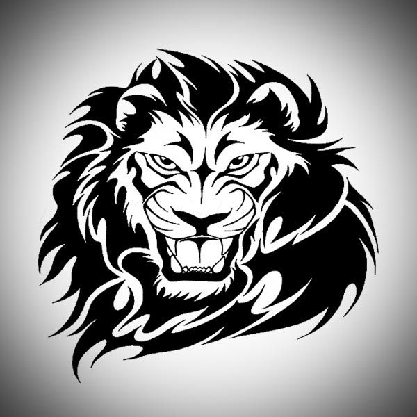 Lion Head Tribal Tattoo Designs | Tattoos | Pinterest ...