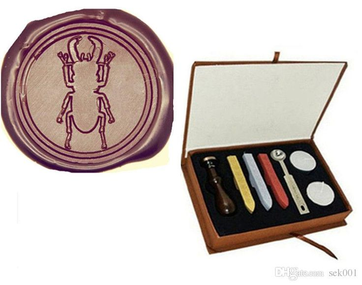 Stag Beetle Wax Seal Stamp Kit Gift Box Set