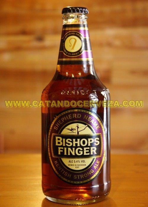 Cerveza Bishops Finger. Cerveza Inglesa estilo Kentish Strong Ale