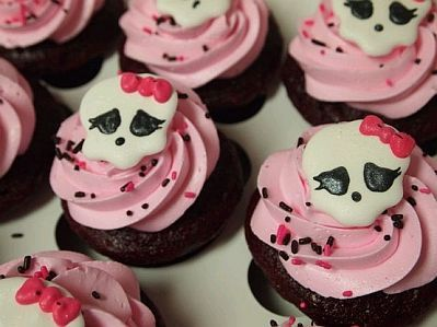 monster high cupcake ideas | ... de ideas y presentaciones de cupcakes o magdalenas de Monster High