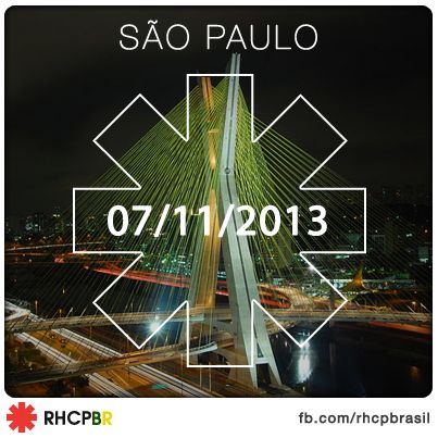 RHCP em São Paulo no dia 7 de novembro de 2013: Sao Paulo, De Novembro, Brazil 2013, Não Perco, 2013, Esse Eu, Por Nada, Ems Are, Perco Por