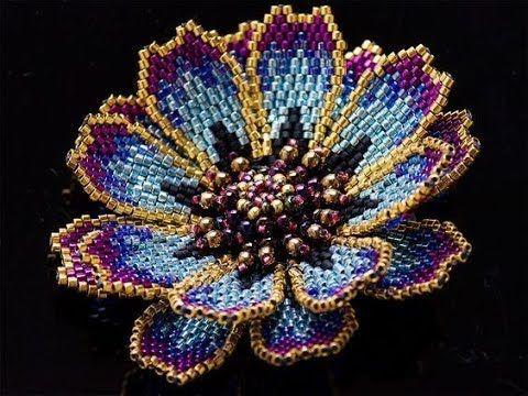 цветочки и листочки- работы из бисера от разных мастеров