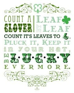 Thank you saynotsweetanne.com for this cute St Patty's Day printable!
