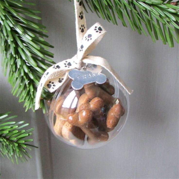 Dog Treat Personalised Christmas Bauble