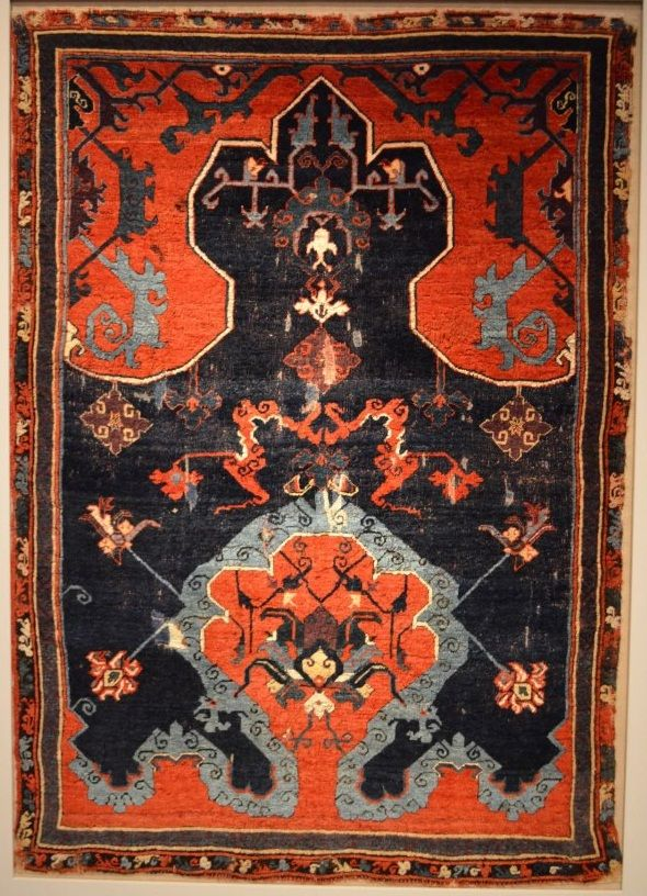 orange and navy ushak prayer rug bode berlin oriental rugs pinterest teppiche wolle und. Black Bedroom Furniture Sets. Home Design Ideas