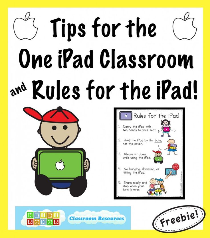 Tips for the One iPad Classroom and a FREE Rules for the iPad Poster Download!