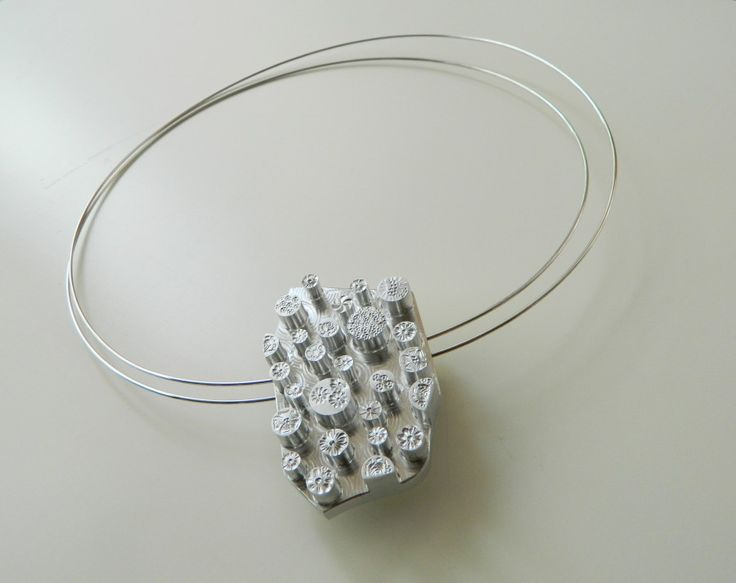 Eliana Negroni -aluminium necklace - TRANSMISSION: