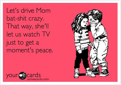 This is for sure their plan...must say it works.: Mom Bats Shit, Driving Mom, My Boys, My Life, So True, My Children, It Works, Bats Shit Crazy, Kid
